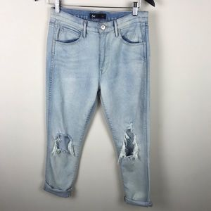 3x1 NYC Light Wash Distressed Boyfriend Jeans 27